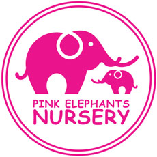 Pink Elephants Nursery Logo